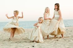 Adorable girls ... Adorable pics! Montauk Yacht Club Wedding by The Popes