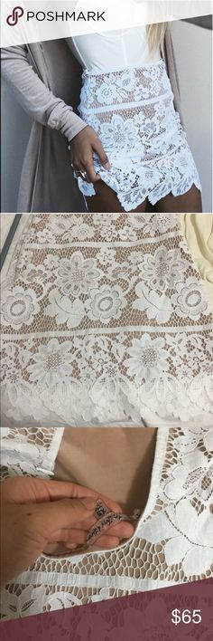For Love and Lemons Lace skirt Size XS NWOT. For Love and Lemons Lace skirt size XS. Gorgeous skirt! Runs true to size. Willing to trade For Love And Lemons Skirts Mini