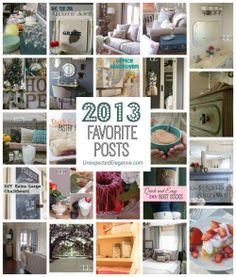 2013 Favorite Posts from Unexpected Elegance...Lots of DIY projects and inspiration