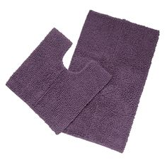 J by Jasper Conran Designer purple chunky looped bath and pedestal mat set- at Debenhams.com