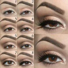 How to create a simple and elegant ceremony make-up Eye Makeup Steps, Makeup Tips, Hair Makeup, Aloe Vera, Makeup Step By Step, Braut Make-up, Beauty Tutorials, Makeup For Brown Eyes, Eye Make Up