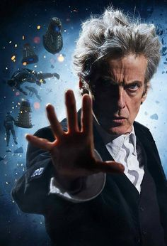Whenever I see Peter do his classic Doctor pose, I always think of this. Doctor Who 12, 13th Doctor, Twelfth Doctor, Geronimo, Doctor Who Wallpaper, All Pop, John Barrowman, Peter Capaldi, Torchwood