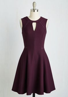 Moxie Must-Have Dress in Plum. Put your spunky disposition on display with this deep plum dress! #red #modcloth