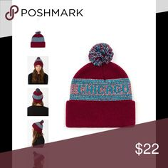 NEW! AA Pom Pom Chicago beanie ❤️🎉💗 New authentic AA signature style super warm! American Apparel Accessories Hats