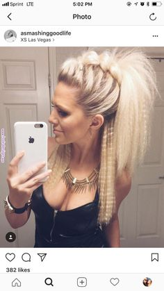 Cute night out hair! 🖤 Cute night out hair! 🖤 More from my site hairstyles for long hair videos Night Out Hairstyles, Pretty Hairstyles, Braided Hairstyles, Unique Hairstyles, 80s Hairstyles, Faux Hawk Hairstyles, Rocker Hairstyles, Funky Hairstyles For Long Hair, Concert Hairstyles