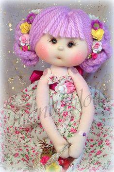 Cloth doll Handmade doll Fabric doll Tilda doll Rag doll Art doll UK made SARAH JANE 15 inches tall Tiny Dolls, Soft Dolls, Doll Clothes Patterns, Doll Patterns, Fabric Dolls, Paper Dolls, Rag Dolls, Lifelike Dolls, Sewing Dolls