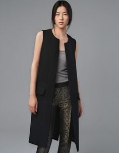 STUDIO WAISTCOAT - Coats - Woman - ZARA. Classic, updated modern, love this would work with so many options