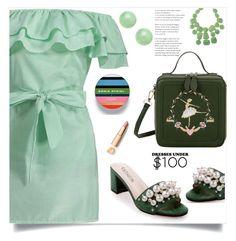 """Under $100: Summer Dresses"" by samra-bv ❤ liked on Polyvore featuring Lancôme, Kenneth Jay Lane, polyvorecommunity, under100 and polyvorefashion"