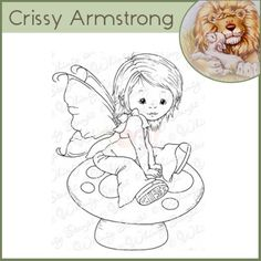 Whimsy Crissy Armstrong Rubber Stamp - Young Spring Fairy