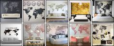 papel de parede - mapas - maps decor - decoration - nick na europa