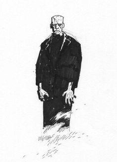 art by Mike Mignola Frankensteinia: The Frankenstein Blog
