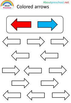 Colored arrows – About Preschool Preschool Number Worksheets, Phonics Worksheets, Worksheets For Kids, Fun Activities For Preschoolers, Preschool Learning Activities, Visual Perceptual Activities, School Motivation, Math For Kids, Learning Colors