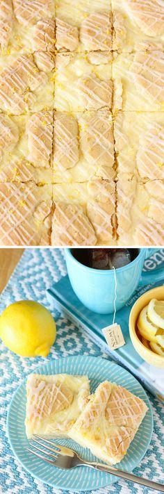 Lemon Cheesecake Kuchen Bars: a super simple, sweet, bright recipe for anyone who loves lemon!