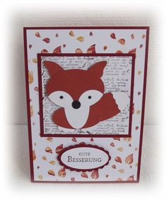 Gute Besserung Karte mit Fuchs Stampin UP Get well soon Card with fox Stampin UP