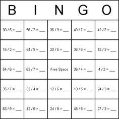 Math Bingo - The printable bingo games on this page are: Addition ...