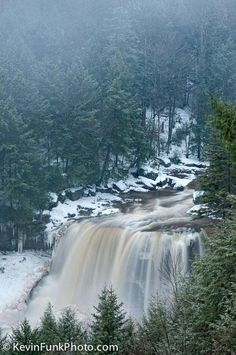 Blackwater Falls Gentle Trail Overlook - Blackwater Falls State Park - West Virginia by Kevin Funk Photography West Virginia, West Va, Key West, Beautiful Waterfalls, Beautiful Landscapes, Vacation Trips, Day Trips, Vacations, State Parks