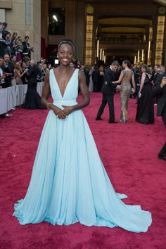 Oscar®-nominee Lupita Nyong'o arrives for the live ABC Telecast of The 86th Oscars® at the Dolby® Theatre on March 2, 2014 in Hollywood, CA. credit: Matt Petit / ©A.M.P.A.S.