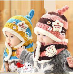 니트 모자 + 스카프 패션 수제 유아 아기 니트 의상 비니 신생아 사진 소품 크로 셰 뜨개질 셔츠 모자 모자 소녀