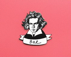Bae Beethoven pun brooch by punsintended on Etsy