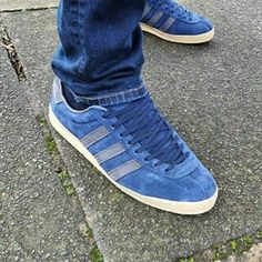 f898c03e006 Adidas  Clean  navy Topangas on the street. EddieRudy · Shoes