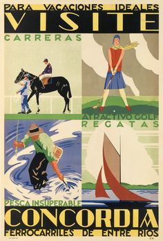 W.G. HURRIE (DATES UNKNOWN) VISITE CONCORDIA / PARA VACACIONES IDEALES. 1930.