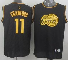 Los Angeles Clippers Jamal Crawford Revolution 30 Swingman 2014 Black With  Gold Jersey 0925ece4fe74
