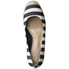 Women's Merona® Penelope Espadrille Wedge Pump (in Navy Stripe) (Target)