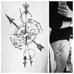 tattoo,compasstattoo,geometrictattoo