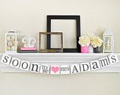 BRIDAL Shower Decorations - Bridal Shower Banners - SOON To Be MRS Banner - Bachelorette  Party