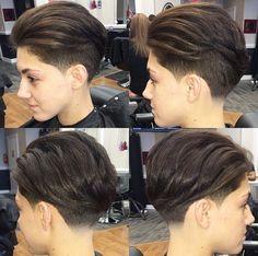 2015 Trendy Undercut Hairstyles for Short Hair