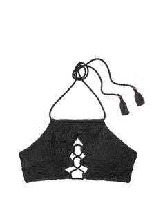 Lace-up High-neck Halter - Victoria s Secret  15.99 Victoria Secret Bikini a44e4713a9d
