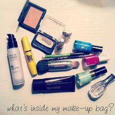 a peek inside my make-up bag, by gussy sews