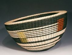"""""""Handwoven Baskets by Kari Lønning,"""" a photo story featured by Apartment Therapy in April 2010 -- The basket shown here is in the permanent collection of the Fuller Craft Museum in brockton, MA, www.fullercraft.org"""