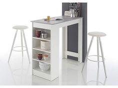Masa bar alb cu beton MOJITO Mojito, Ikea Trofast Regal, Small Rooms, Small Spaces, Minimalist Design, Modern Design, Table Bar, Home Room Design, Wooden House