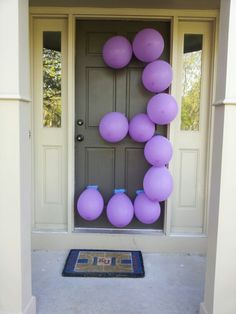 Fun and inexpensive way to welcome party guests.
