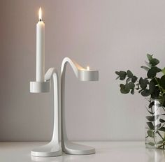 IKEA Jatteviktig White Modernist Candle Holders For Votive Or Candlesticks Ikea Candles, Battery Candles, Tea Light Candles, Votive Candles, Tea Lights, Candlestick Centerpiece, Candlesticks, Ikea Candle Holder, Lawn Chairs