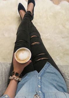 Laxed look from American Eagle. And it's National Coffee Day! :D