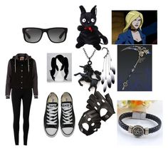 """""""Accidentally Putting On a Show for Black Canary"""" by iznek1234 ❤ liked on Polyvore featuring Max Studio, River Island, Anni Jürgenson, Ray-Ban, Aspinal of London and Converse"""