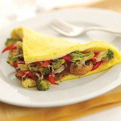 After: Veggie Omelet with Avocado - Fitnessmagazine.com