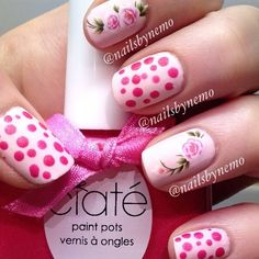 Matt manis.  This is avon pastel pink and ciate pinkalilly for the dots with essie Matt about you @nailsbynemo-