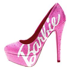 Bling Barbie Pink Swarovski Crystals Girly Rhinestone High Heels Sexy... ❤ liked on Polyvore
