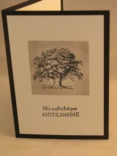 Stampin mit Scraproomboom, Trauerkarte, Lovely as a tree