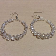 Clear Rhinestones, (Nickel Free) Silver Toned Post, Earrings, faceted, 4mm