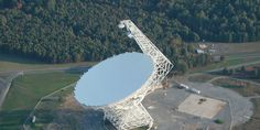 China Is Building the World's Largest Steerable Radio Telescope similar to the one shown above at Green Bank, West Virginia, USA World Radio, Cosmos, Popular Mechanics, Ciel, Telescope, West Virginia, Worlds Largest, Galaxies, Building