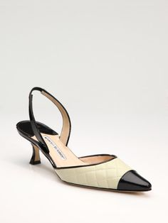 manolo blahnik kitten heel shoes
