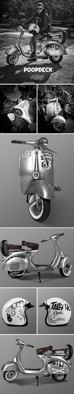 Poopdeck Vespa by McBess - actually it says poopdick which is sort of unfortunate