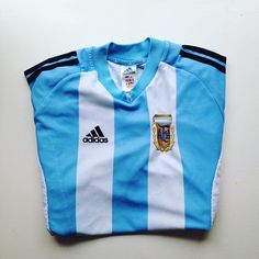 Argentina home shirt, 2002 #argentina #argentinashirt #adidas #football #footballshirt #retro #retroshirt #retrofootball #vintage #vintageadidas #vintagefootball #vintagefootballshirt #worldcup #worldcup2002 #classicfootball #classickit #soccer #soccerjersey #2002