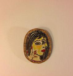 Hand painted brooch-Textile brooch-Pablo от NatashaArtDolls
