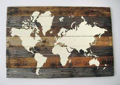 3 Pallet Board World Map