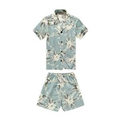 Boy Rayon Cabana Set in Waterlily Sky Blue